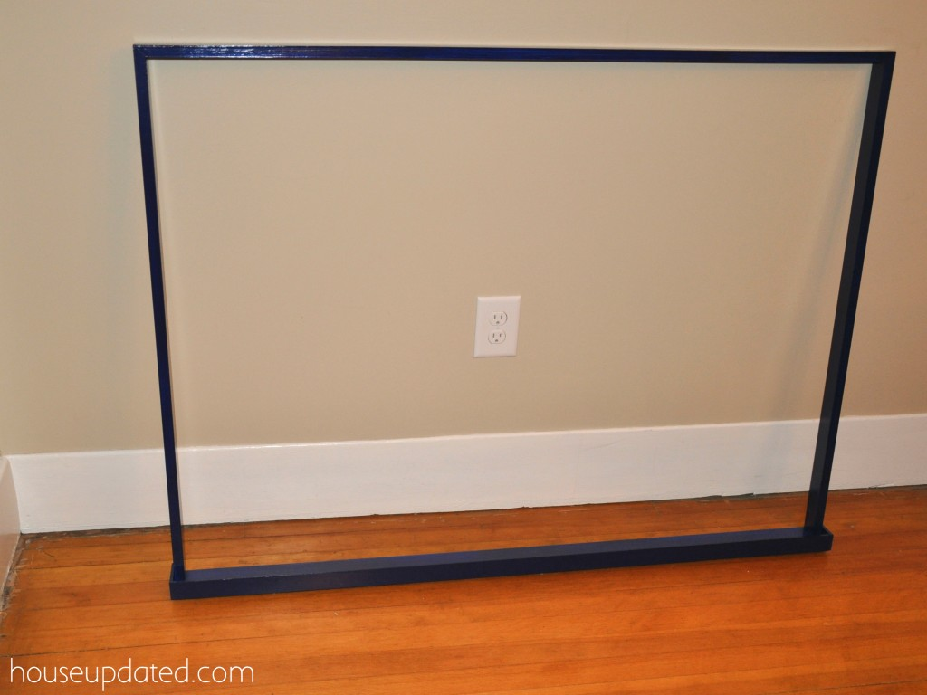 how to build a frame shelf