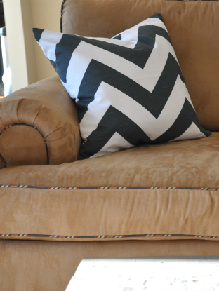 charcoal chevron pillow