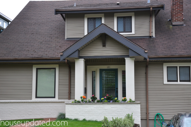 Exterior Window Trim Brick exterior update: painted brick and window frames - house updated