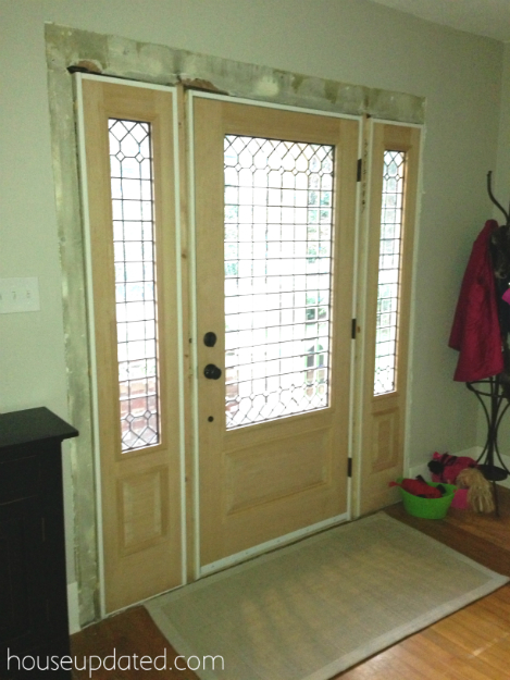 Front Door Stained and Trimmed - House Updated
