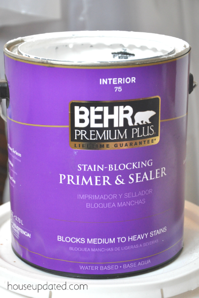 I Am On A Mission To Shrink My Paint Stock In The Basement (it Is  Ridiculously Large), So Went For What I Had On Hand Which Was Behru0027s  Stain Blocking Primer ...