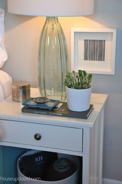 lamp on nightstand styling