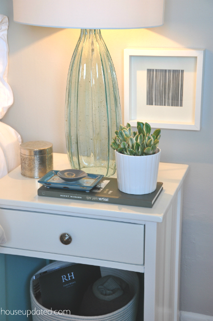 nightstand styling glass lamp