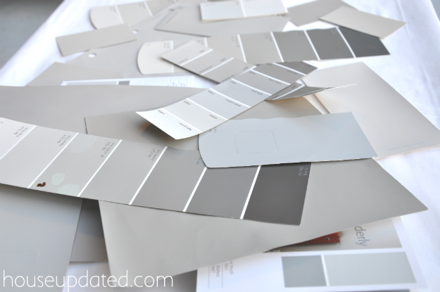 gray paint chips