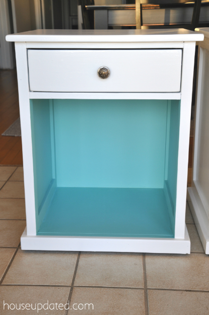 white and turquoise nightstand furniture