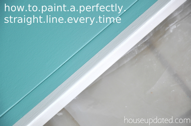 how to paint a perfectly straight line every time
