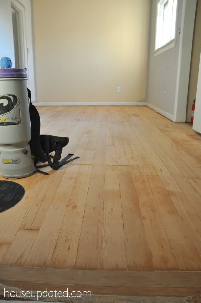 sanded fir floors