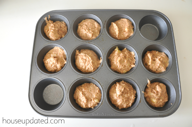 whole wheat banana bread muffins 5