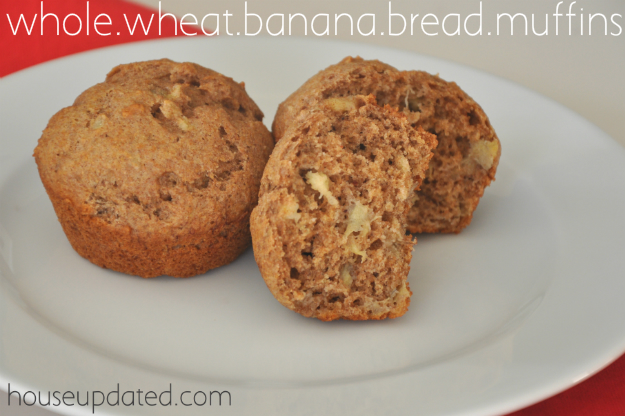 whole wheat banana bread muffins 7