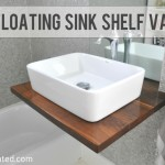 DIY Walnut Floating Shelf Sink Vanity