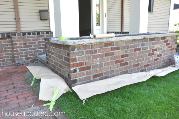 How to paint brick painting brick fireplaces how to whitewash brick the right way how to paint - Painting preparation exterior photos ...
