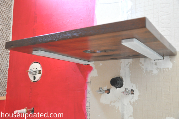 floating shelf hidden brackets