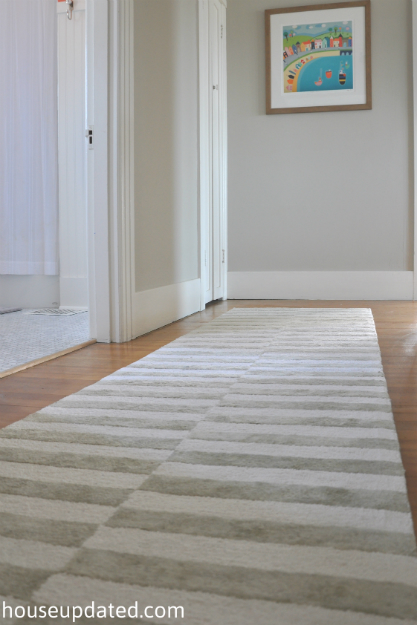 gray white striped rug 1