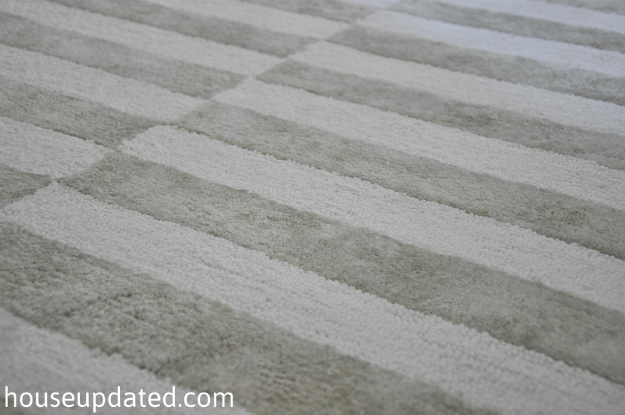 Gray Striped Rug Home Decor