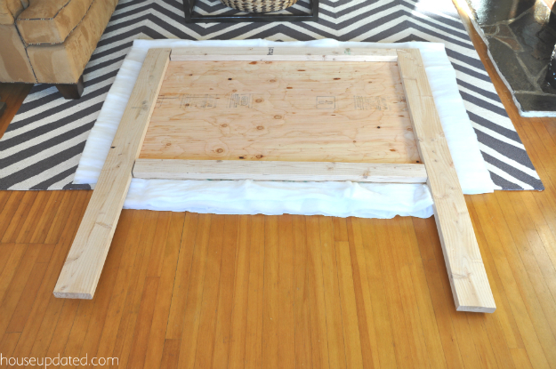 how to make an easy headboard 2