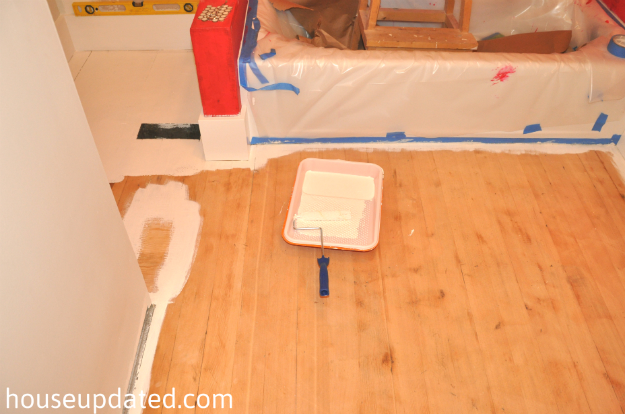 how to paint hardwood floors 6