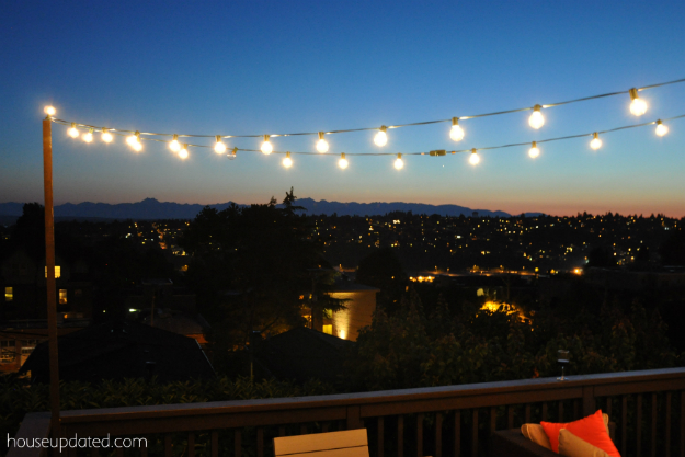 DIY Posts For Hanging Outdoor String Lights