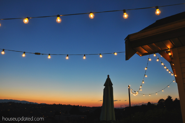 DIY poles for outdoor string lights