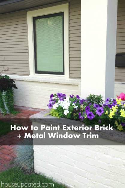 A Twofer:  How to Paint Brick and How to Paint Metal Window Trim