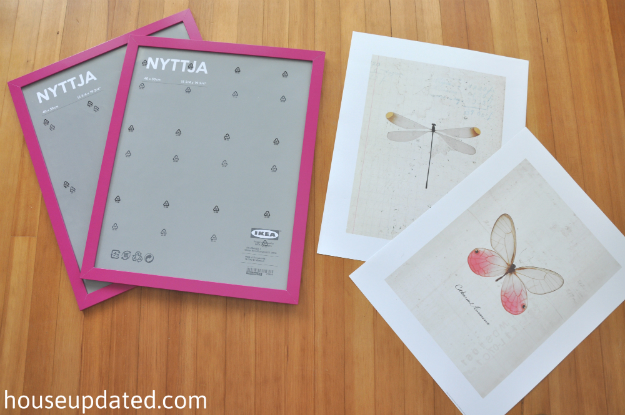 Ikea butterfly art + dragonfly art