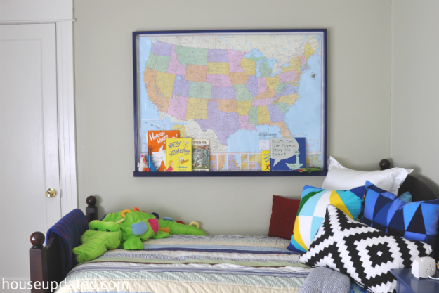 Big Kid Boy Room:  Maps, Airplanes, and More