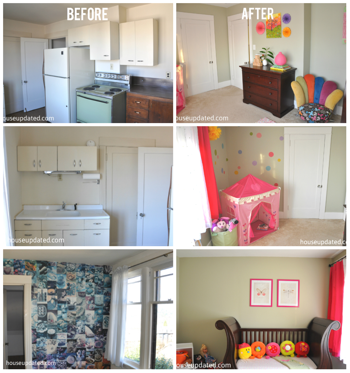 from kitchen to girl's bedroom
