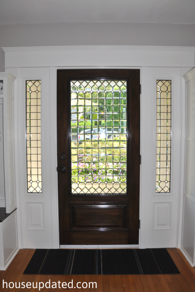 White trim with stained doors car interior design for White front door with glass
