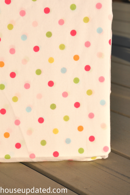 polka dot crib sheet