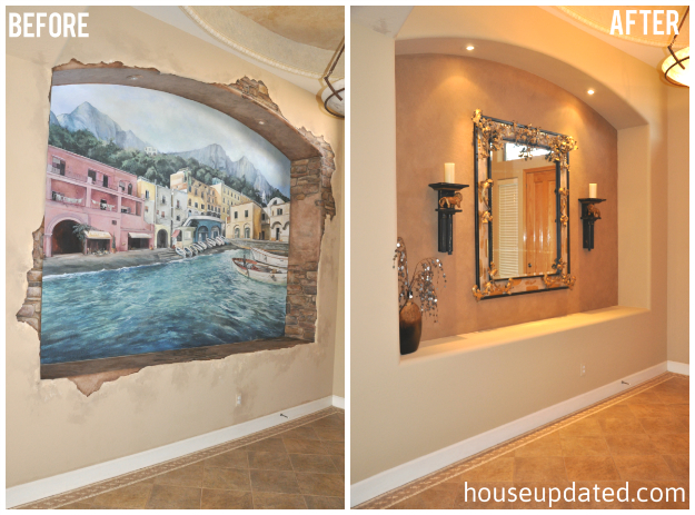 painting over a wall mural (aka this mural gots to go) - house updated