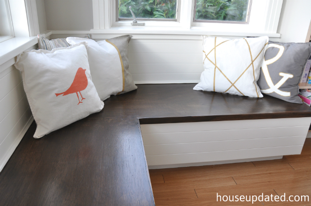 stained wood and white banquette 2
