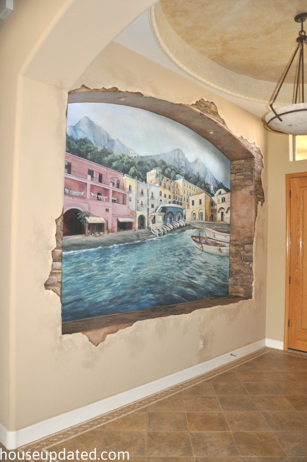How To Paint A Wall Mural painting over a wall mural (aka this mural gots to go) - house updated