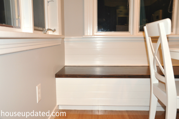 wood white banquette
