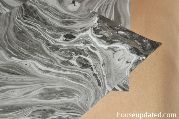 black gray silver gold marbled paper