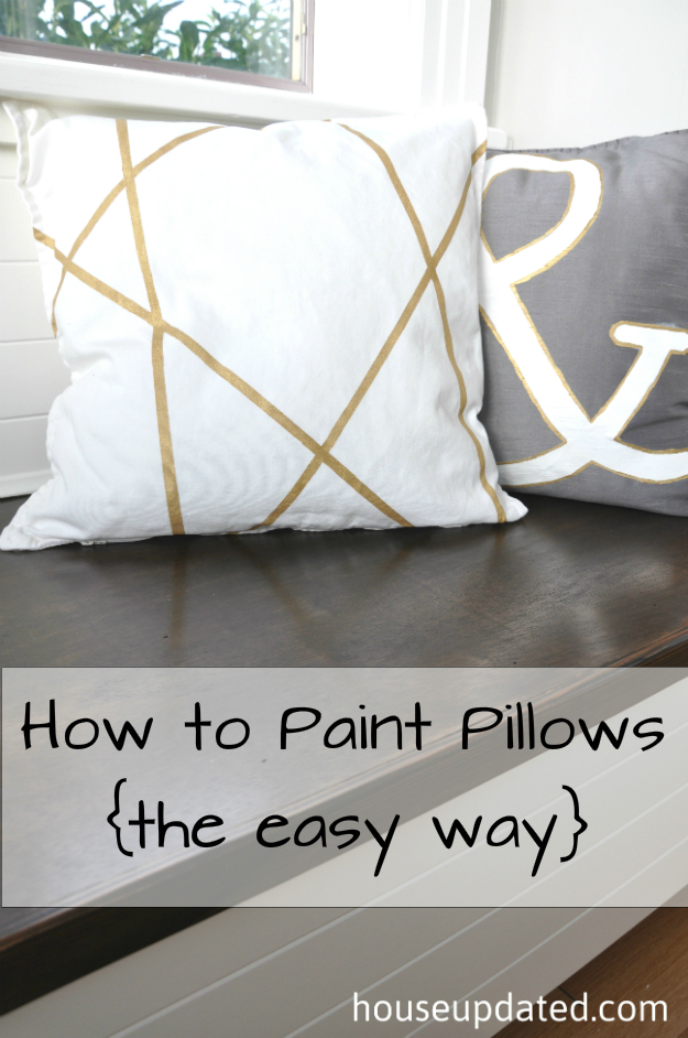 How To Paint Pillows The Easy Way House Updated