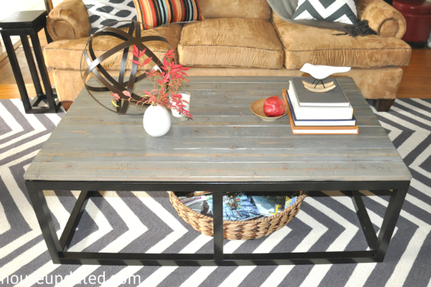 ... DIY reclaimed wood coffee table - How To Build A DIY Industrial Coffee Table For Only $75.24 - House