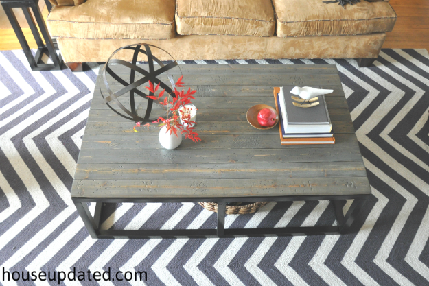 DIY restoration hardware bricklayers coffee table