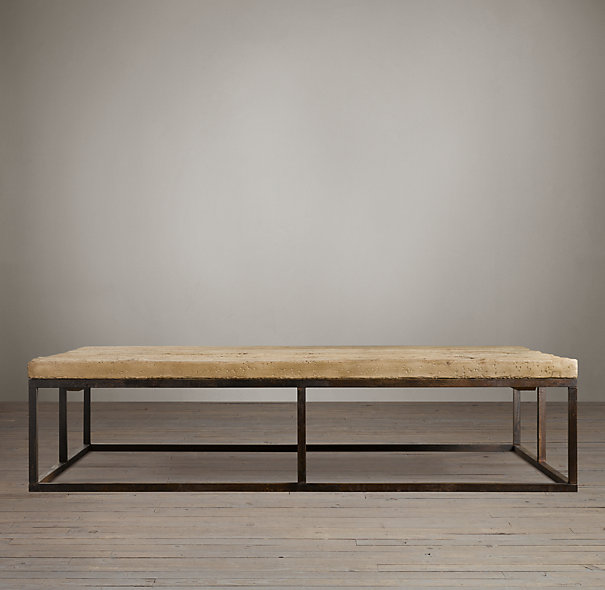 Restoration Hardware coffee table - How To Build A DIY Industrial Coffee Table For Only $75.24 - House