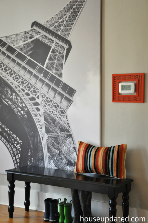 eiffel tower black and white oversize art