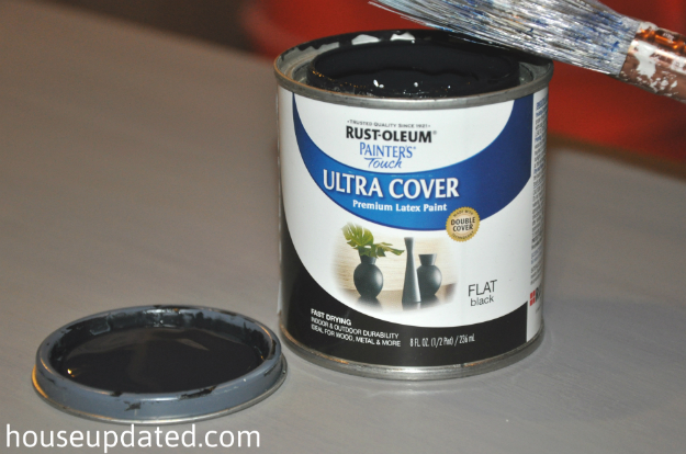 How to paint wooden furniture black how to paint wood for Flat black wall paint