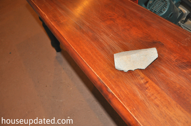 sanding glossy wood furniture