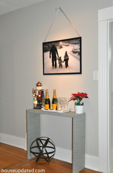 entry console table Christmas