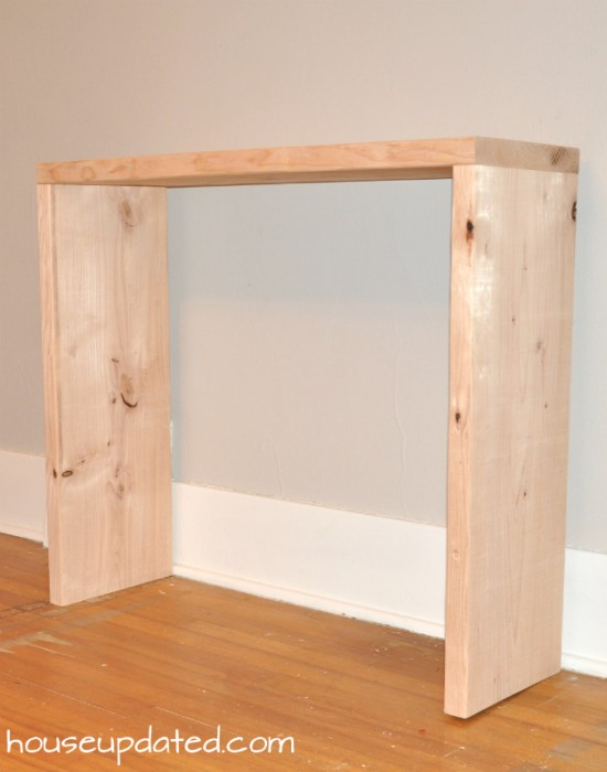 Tools For Building Console Table DIY Wood Console Table