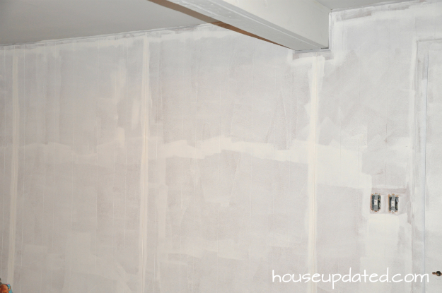Basement refresh painting wall to wall paneling part 1 Priming walls before painting