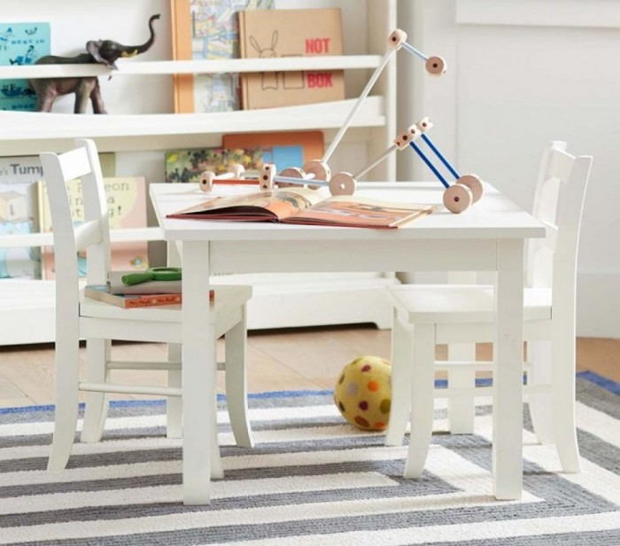 playroom white table