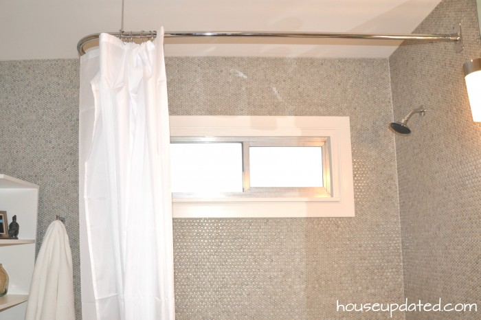 Delightful D Shaped Shower Curtain Rod L Brushed Nickel With Ceiling Support Polished  Chrome