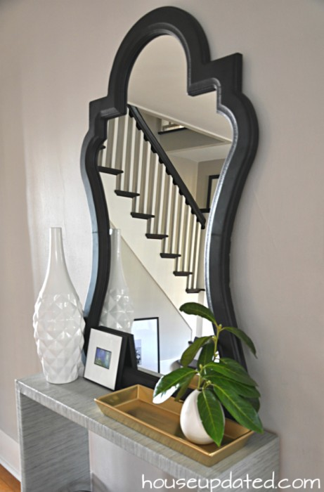 styled curvy entry mirror