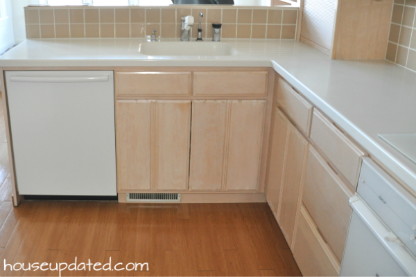 bleached wood cabinets & Current Kitchen: Take Two - House Updated