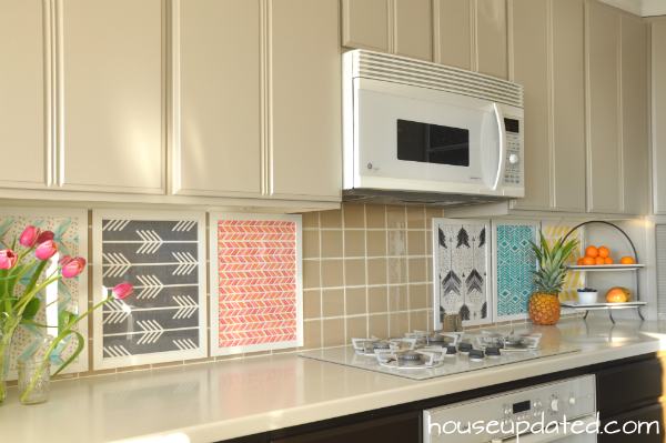 DIY Temporary Backsplash - House Updated