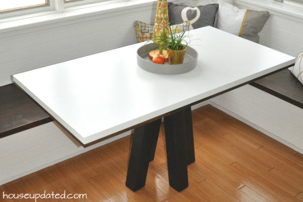 DIY dining table breakfast table white wood