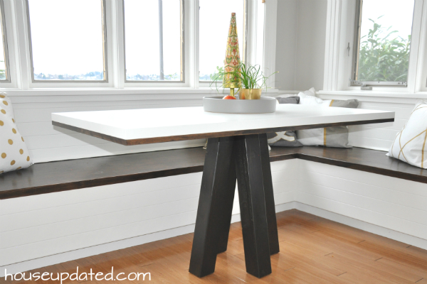 DIY how to make a dining table or breakfast nook tableHow to Make a DIY Breakfast or Dining Table   House Updated. Dining Table Ikea Hack. Home Design Ideas